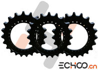 China Steel SK210-8 Double Roller Chain Sprockets , Black Kobelco Excavator Parts company